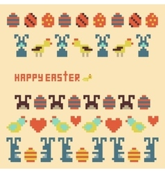 ornament collection of easter items vector image