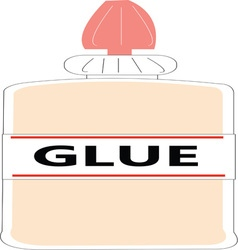 Craft glue vector