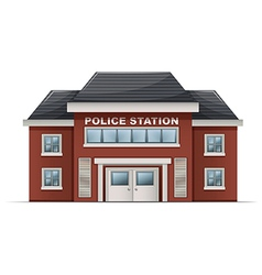 A police station building vector image vector image