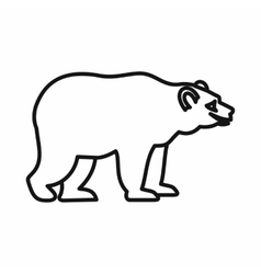 Bear icon in outline style vector
