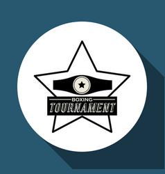 Boxing design tournament icon white background vector