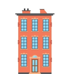Brick townhouse vector image vector image
