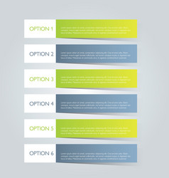 Business infographics template green and grey vector