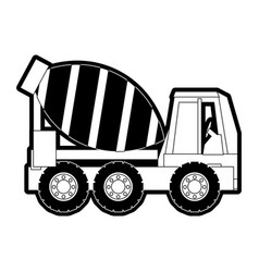 cement truck vector image