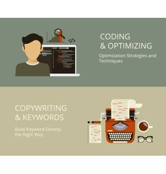 Coding and copywriting vector image vector image