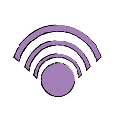 color wifi symbol to connection in the digital web vector image