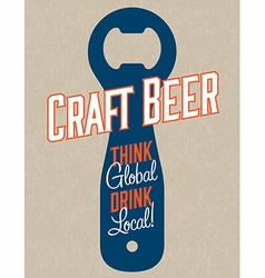 Craft Beer Design vector image