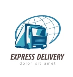 delivery logo design template transport or vector image
