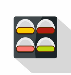 Different sushi icon flat style vector