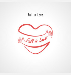 fall in love typographical design elements vector image vector image