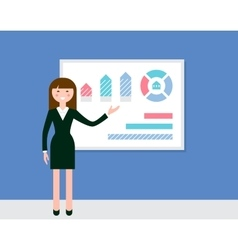 Female Speaker Giving Presentation vector image vector image