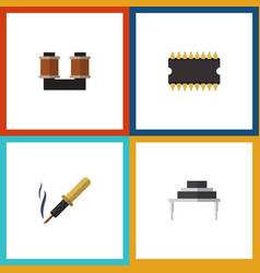 Flat icon appliance set of destination vector