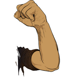 Gesture raised fist vector
