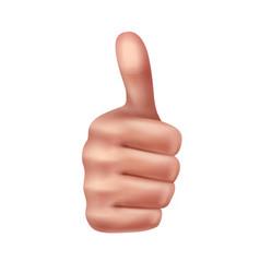 Gesture thumbs up vector