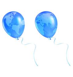 Globe balloon vector