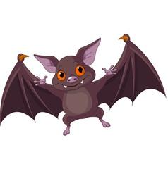 Halloween bat flying vector