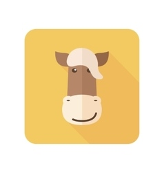 Horse flat icon with long shadow vector image vector image
