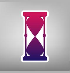 Hourglass sign purple vector