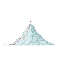 Mountain climbing route Business vector image