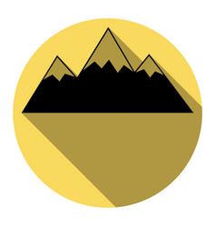 Mountain sign flat black vector
