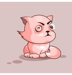 Nice cat squints vector image