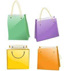 Paper bag for shopping vector