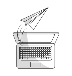 Paper plane message icon image vector