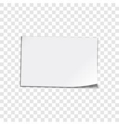 Paper sheet on transparent background vector image