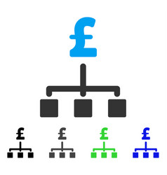Pound hierarchy flat icon vector