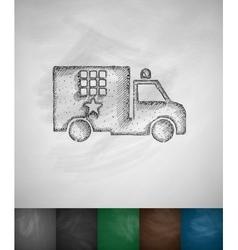 Prison car icon vector