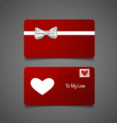 Romantic greeting card design with heart vector image vector image