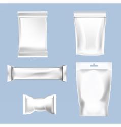set of white polyethylene foil package vector image