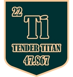 Shield with tender titan text vector