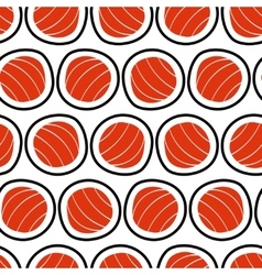Sushi seamless pattern hand drawn Emblem of vector image vector image