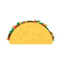 Taco mexican food vector