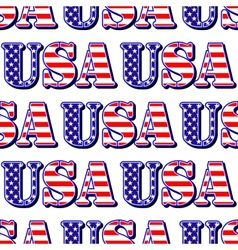 USA sign symbol seamless pattern vector image vector image