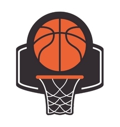 Basketball backboard and net icon vector
