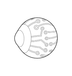 Cyber eyes icon outline style vector
