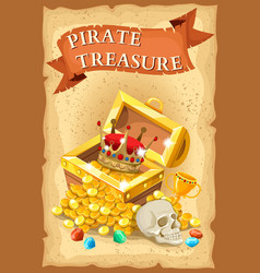 Pirate treasure poster vector