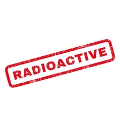 Radioactive rubber stamp vector