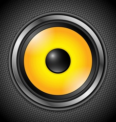 Yellow modern speaker vector