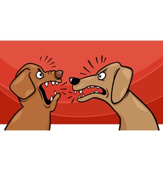Angry barking dogs cartoon vector