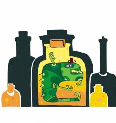 Halloween monster in the bottle vector image