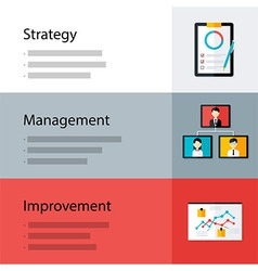 Strategy management improvement template vector