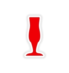 Icon sticker realistic design on paper drinks vector