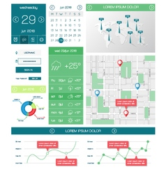 Ui templates and elements of infographics vector image