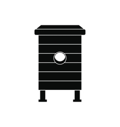 Beehive black simple icon vector