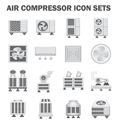 Air compressor fan icon vector