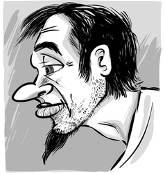 Young man with beard vector
