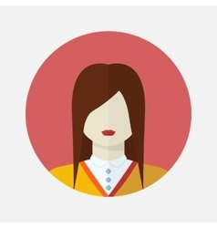 Female slavic avatar vector